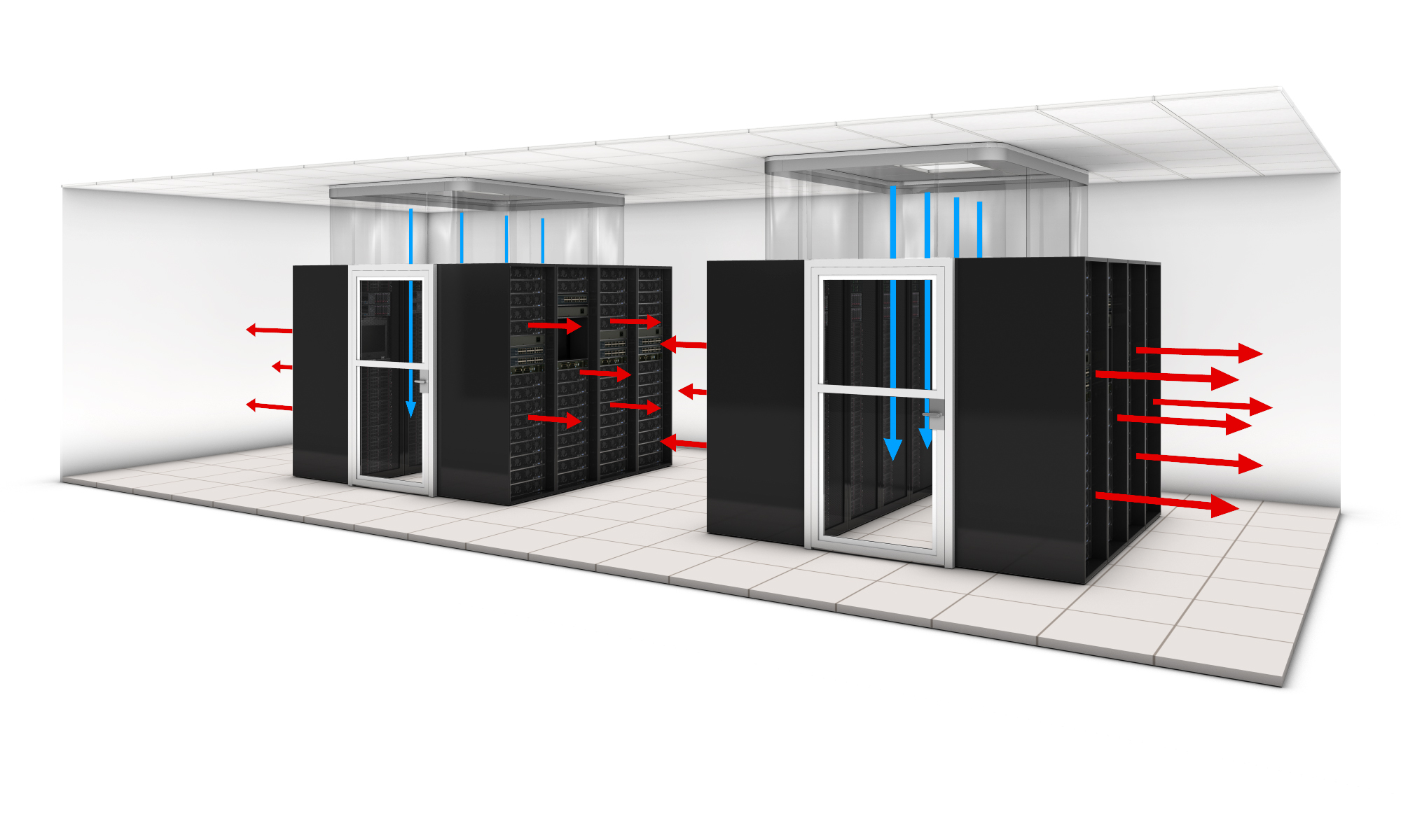 air flow assessement in data centers