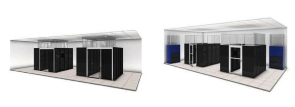 Data center server room layouts for airflow management