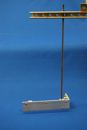 Suspension rod with angle track for custom mounting system