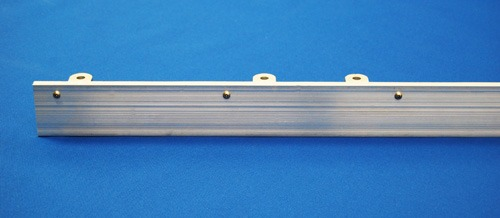 "Front view of a panel bracket without fusible links and a 2.5"" aluminum face."