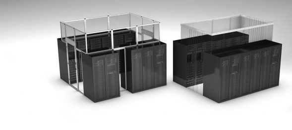 data center enclosures for hot / cold air containment